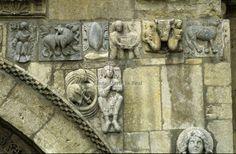 Baúl del Arte: LAS PORTADAS ROMÁNICAS San Salvador, Romanesque, Mount Rushmore, Medieval, Lion Sculpture, Architecture, Cathedrals, Painting, Image