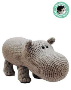 Hippo Amigurumi  Cute Crochet Pattern by MiaGurumis on Etsy