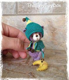 OOAK ARTist Miniature Bear / Doll Vintage Style by TheTinyToyBox Thread Crochet