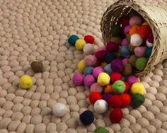 Colores naturales Bio Orgánica de la alfombra hecha de lana de Nepal