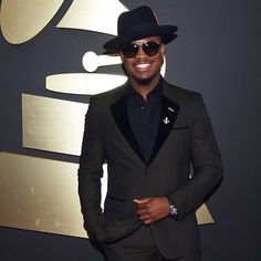 """@Neyo, walk like a boss, dress like a boss in #marcjacobs FW14 #menswear at the 57th Annual #GrammyAwards """