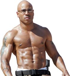 LL Cool J  most men wish he was photoshopped. lol tattoos and abs great combo