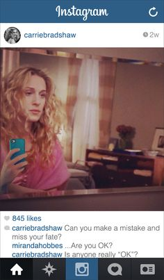 If Carrie from Sex and the City had Instagram