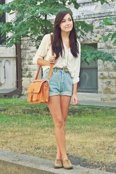 High waisted shorts Theyre just so cute And they go with everything Literally everything Theyre so perfect