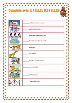 les pronoms personnels,ce1,ce2,reconnaître les pronoms   Travail école