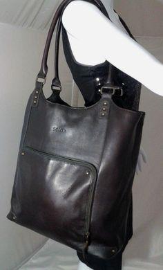 Solo Executive Leather Laptop Bucket Tote, Shoulder Bag~Espresso Retail $103 #SOLO #ShoulderBags