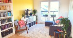 Living room Uk Lifestyle, My Living Room, House Colors, Corner Desk, Shelves, Blog, Furniture, Decor Ideas, Baking