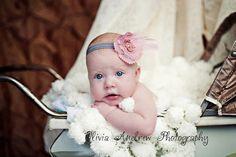 Cream Baby Photo Prop Puff Blanket Ivory Off White by BabyBirdz, $65.00