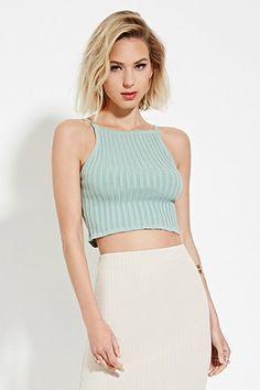 Buy it now. FOREVER21 Women's Pistachio Ribbed Crop Top. Crop top,Ribbed knit,Cami , topcorto, croptops, croptops, croptop, topcrop, topscrops, cropped, bailarina, topbailarina, corto, camisolacorta, topcortoestilobandeau, crop, bralet, strappybralet, bandeautop. Green FOREVER21 crop top for woman.