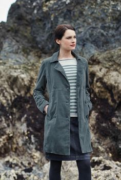 Nelson Coat, seasalt, made in Cornwall Wardrobe Ideas, My Wardrobe, Stylish Outfits, Cute Outfits, Comfort And Joy, Soft Autumn, Soft Summer, Cotton Velvet, Cornwall