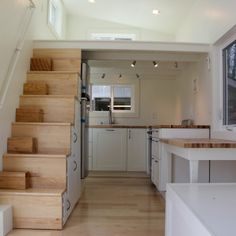Brevard Tiny Houses company. I like this layout except the placement of the couch facing the entry