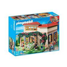 Hyggeligt Playmobil sommerhus hvor der medfølger 4 figurer, cykler og tilbehør til grill og sommerferie-hygge. Grill, City Life, Hygge, Games, Playmobil, Gaming, Plays, Game, Toys
