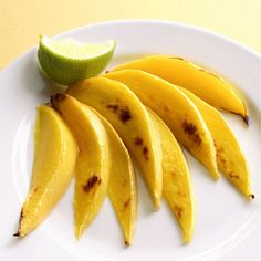Broiled Mango       Broiling fruit brings out its inherent sweetness. A squeeze of tart lime juice balances it out.