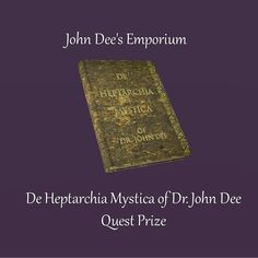 Merchant: John Dee's Emporium Prize Name: De Heptarchia Mystica of Dr. Occult Books, Names, Type, Movie Posters, Decor, Decoration, Film Poster, Popcorn Posters, Film Posters