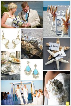 While there are many beautiful venues for tying the knot, there's nothing quite like a beach wedding. The sea and the sand create a picture-perfect backdrop for your big day.    The soothing sand and crashing waves make for a dramatic setting, but stil #bridal, #bride, #wedding ideas, #wedding fantasy
