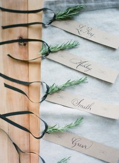 escort cards with sweet styling Photography By / http://elisabethmillay.com,Event Planning By / http://lhevents.com