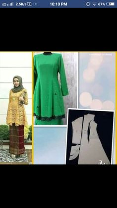 Kebaya Lace, Kebaya Dress, Dress Brokat, Kebaya Brokat, Kebaya Muslim, Batik Dress, Dress Sewing Patterns, Fashion Sewing, Muslim Fashion