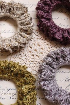 crochet beads scrunchie