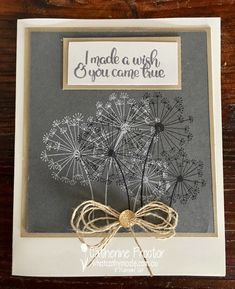 Art With Heart Colour Creations Blog Hop: Week 2 Basic Gray - What Cathy Made Scrapbook Blog, Scrapbook Cards, Dandelion Wish, Fathers Day Cards, Stamping Up Cards, Sympathy Cards, Anniversary Cards, Cool Cards, Flower Cards