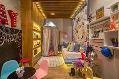 Paula Costa decorou o quarto da imaginação, equivalente ao quarto de criança, da Casa Cor 2016, na Gávea (Foto: Divulgação)