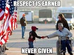 Respect to all veterans. Goes along way.  God bless our veterans