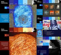 Maja Siemińska website by Arek Rafflewski, via Behance