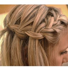 Waterfall braid... Must learn how to do this!