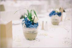 22 Hortensien blau Tischdeko Hannover
