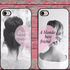 Every Brunette Needs A Blonde Best Friend Hard Mobile Phone Cases for iPhone 6 6 plus 5c 5s 5 4 4s