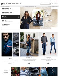 A curated list of beautiful Fashion E-Commerce Web Sites Denim Branding, Ecommerce, Shop Now, Inspire, Fancy, Skinny, Chic, Inspiration, Shopping