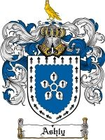Ashly Coat of Arms / Family Crest Downloadable JPG $4.75