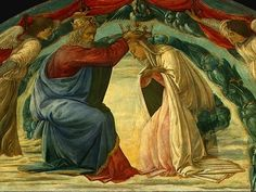 Blessed Virgin Mary, crowned as Queen of Heaven . . . More on this here . . . http://corjesusacratissimum.org/2014/05/may-is-the-month-of-mary-queen-of-heaven/