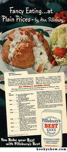 Ann Pillsbury's Salmon Puffs. Elegant, But Economical!