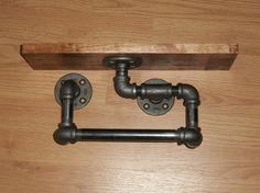 Étagère bois bouleau avec support de serviette pour le tuyau noir de fer aura fière allure dans nimporte quel application de que votre choix.