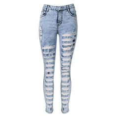 Yoins Skinny Jeans In Snow Wash With Extreme Shredded Rips ($30) ❤ liked on Polyvore featuring jeans, pants, yoins, black, super skinny jeans, high-waisted jeans, 5 pocket jeans, denim skinny jeans and high waisted denim skinny jeans