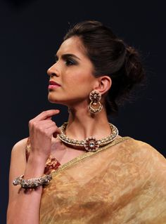 At Birdhichand Ghanshyamdas Jewellers, every piece is embellished with a plethora of colored gemstones in dreamy hues, highly polished diamonds with fancy colors, shapes and cuts, all set in gold with astounding quality. #iijw #delhi #jewellery