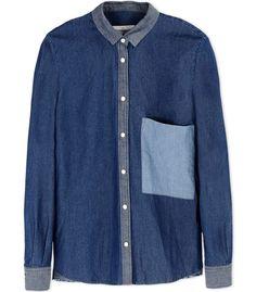 Golden Goose Chest Pocket Denim Shirt