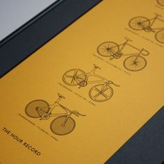 The Hour Record (Cycling) - Limited Edition Digital Art Print by Michael Green | The Bristol Shop
