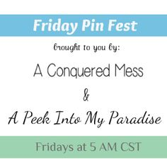 Friday Pin Fest Link Up Blog Party {co-hosting} | Desperate Houselife