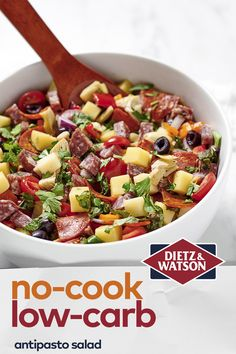 Looking for some healthy and easy low carb recipes? Dietz & Watson's got 'em!  Try making our Keto Antipasto Salad, Pickle Subs, and Thai Chicken Wraps.When you're looking for premium meats & artisan cheeses, you can always count on Dietz & Watson. It's a Family Thing. Since 1939. Heart Healthy Recipes, Low Carb Recipes, New Recipes, Dinner Recipes, Cooking Recipes, Thai Chicken, Chicken Wraps, Healthy Cooking, Healthy Eating