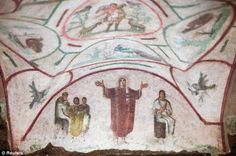 ROME (AP) — The Vatican on Tuesday unveiled newly restored frescoes in the Catacombs of Priscilla, known for housing the earliest known image of the Madonna with Child — and frescoes said by some to show women priests in the early Christian church. Rome Catacombs, Ap Art History 250, Roman History, Fresco, Early Christian, Christian Art, Christian Church, Ramses, Ancient Art