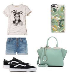 """""""Sin título #87"""" by reginaest on Polyvore featuring moda, Fendi, Madewell, Hollister Co., Casetify y Vans"""