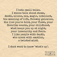 Small talk...