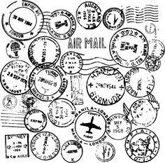 Vinilo decorativo sellos pasaporte