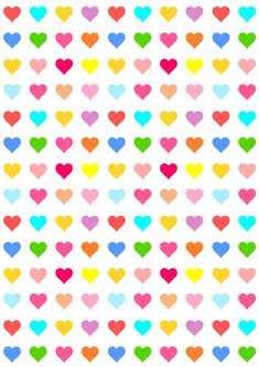 Free printable heart pattern paper | colorful party paper for your DIY projects + digital scrapbooking paper