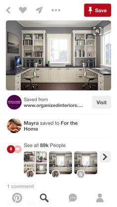 Office bookcase design Bookcase, Organization, Interior, Home, Design, Getting Organized, Organisation, Indoor, Ad Home