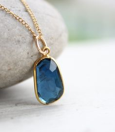 London Blue Tourmaline Gemstone Necklace