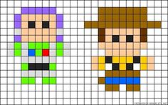 Buzz and Woody Toy Story perler bead pattern