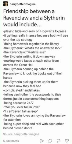 but like, this also reminds me of remus and sirius, cause remus was pretty smart and sirius was a black so he was supposed to be in slytherin... god im thinking way too much into this