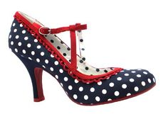 Ruby Shoo Navy Spotted Mary Jane